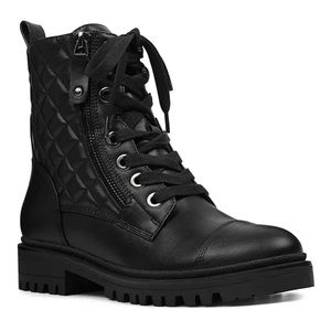 Nine West Quilted Combat Boots